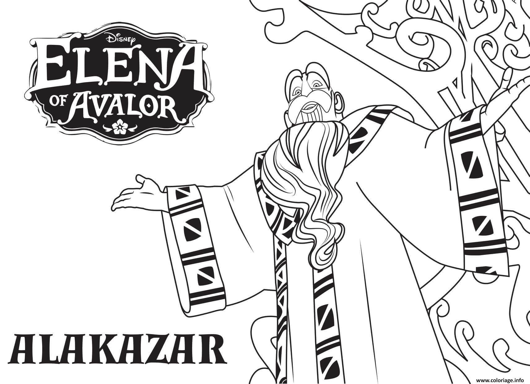 Dibujos Para Colorear De Disney Infinity: Coloriage Elena D Avalor Alakazar Disney Princesse Dessin