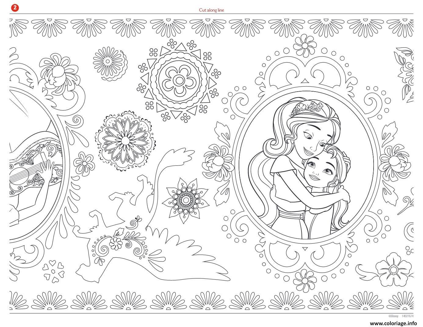 coloriage a imprimer elena