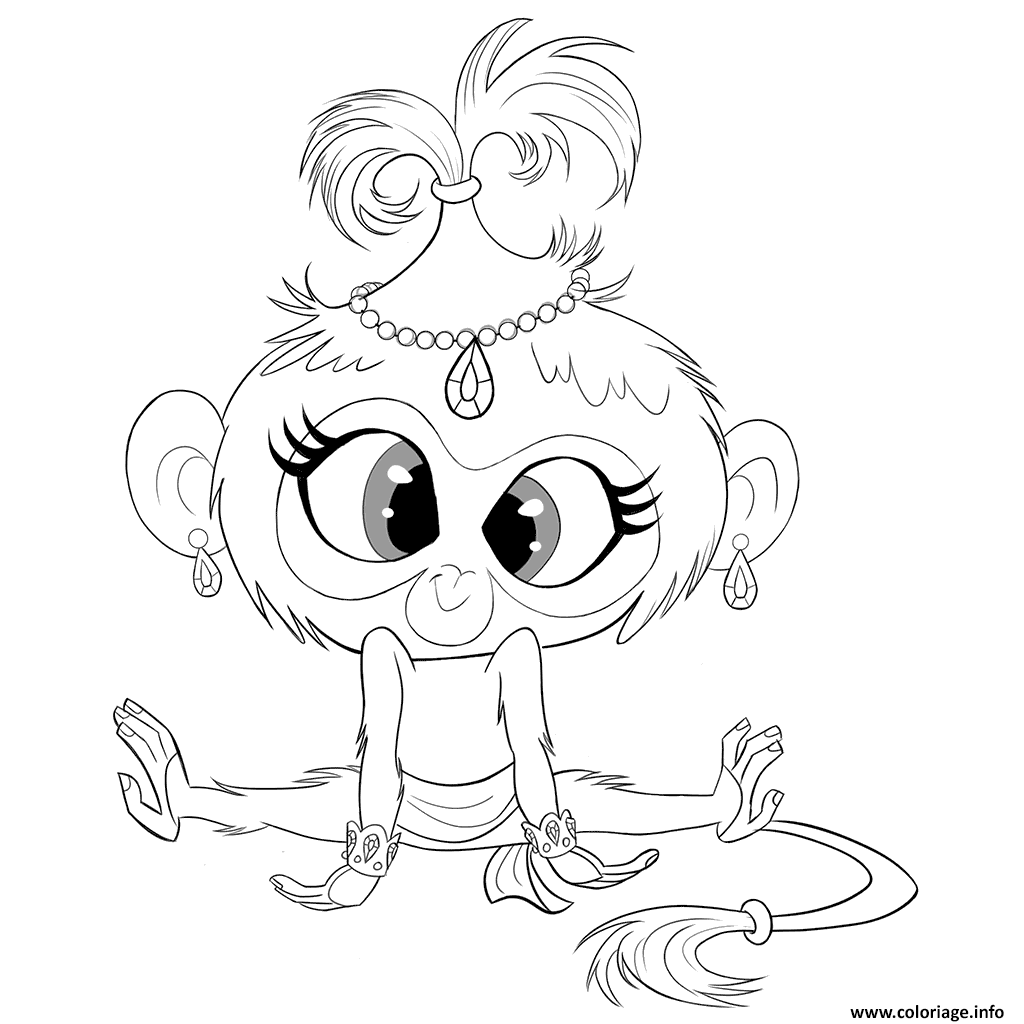Coloriage Monkey Tala From Shimmer Et Shine Dessin