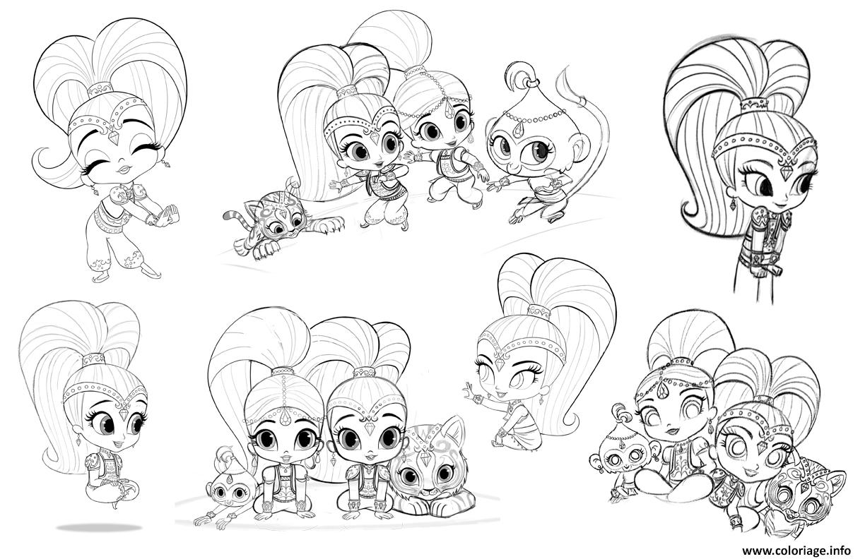 Coloriage Shine And Shimmer Artwork Nickelodeon Dessin à Imprimer