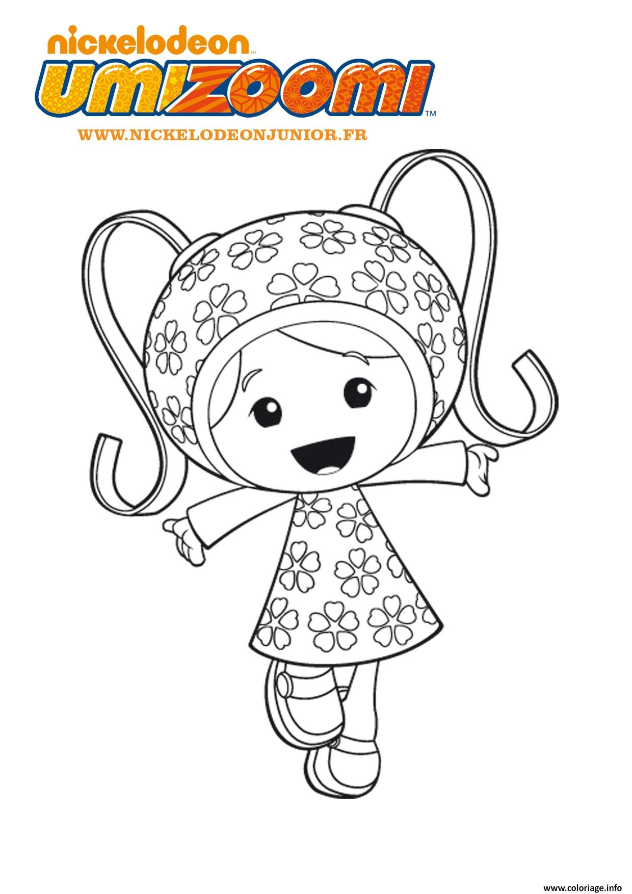 Coloriage fille umizoomi 2 dessin - Coloriage d une fille ...