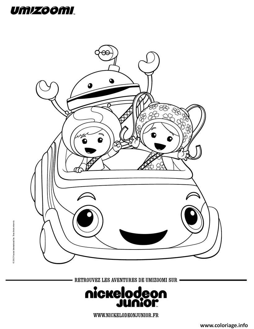 Coloriage les umizoomi dans la umi voiture dessin - Dessin a colorier de voiture ...