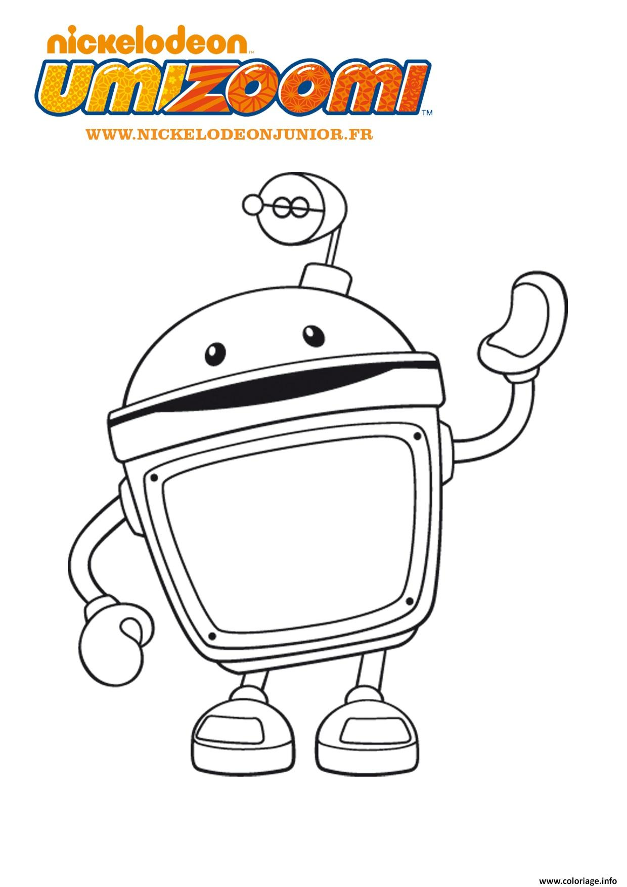 Coloriage umizoomi robot dessin - Robot coloriage ...