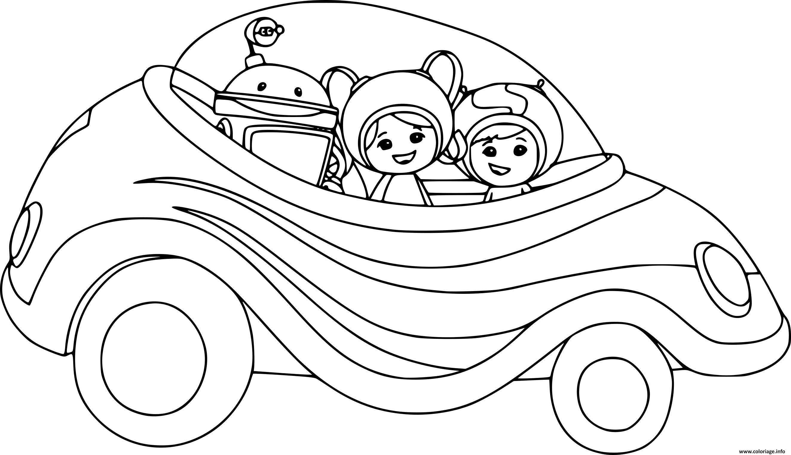 coloriage umizoomi en voiture. Black Bedroom Furniture Sets. Home Design Ideas