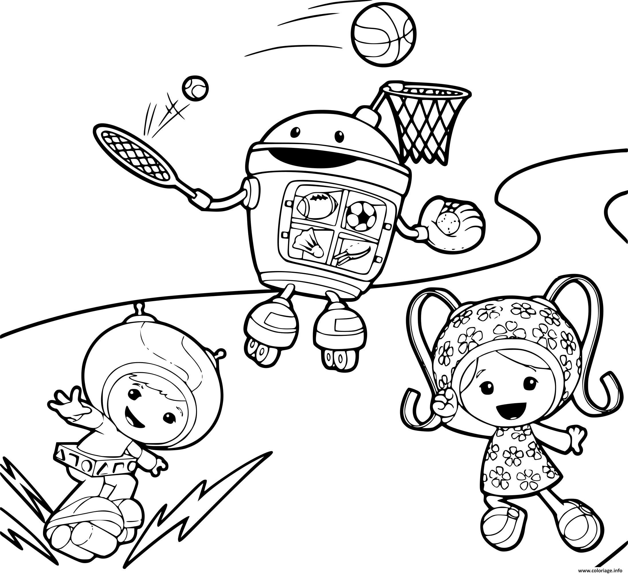 Coloriage umizoomi font du sports dessin - Jeux de umizoomi ...