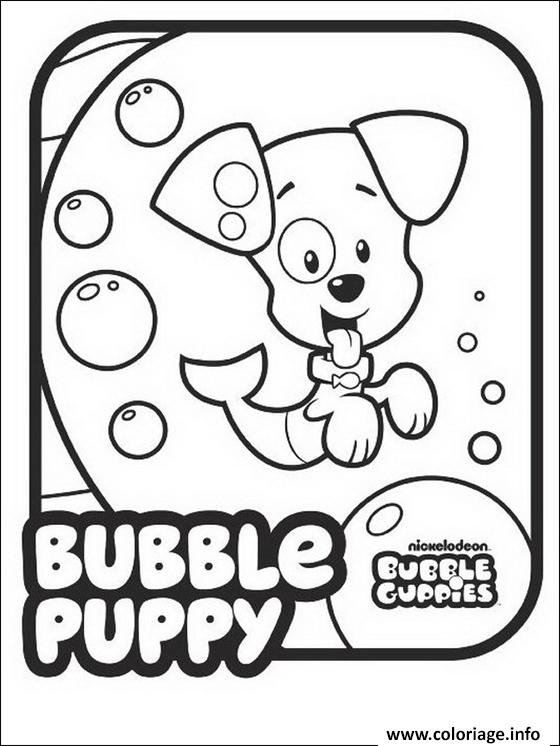 Dessin Bubble Guppies Puppy Cute Dog Coloriage Gratuit à Imprimer