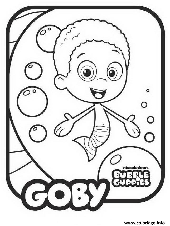 Dessin Goby Bubble Guppies Coloriage Gratuit à Imprimer