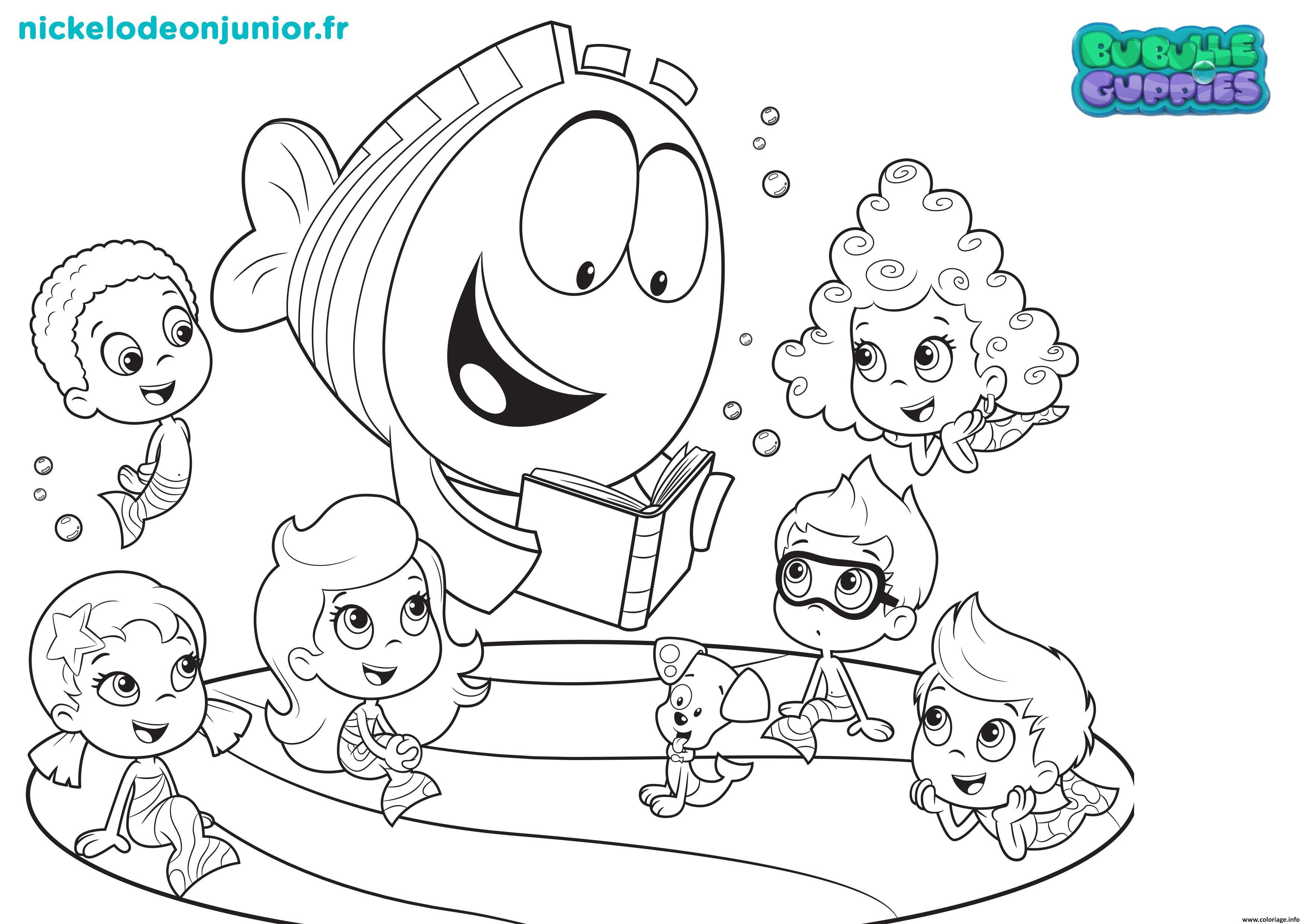 Coloriage bubulle guppies raconte une histoire dessin - Jeux de nick junior ...