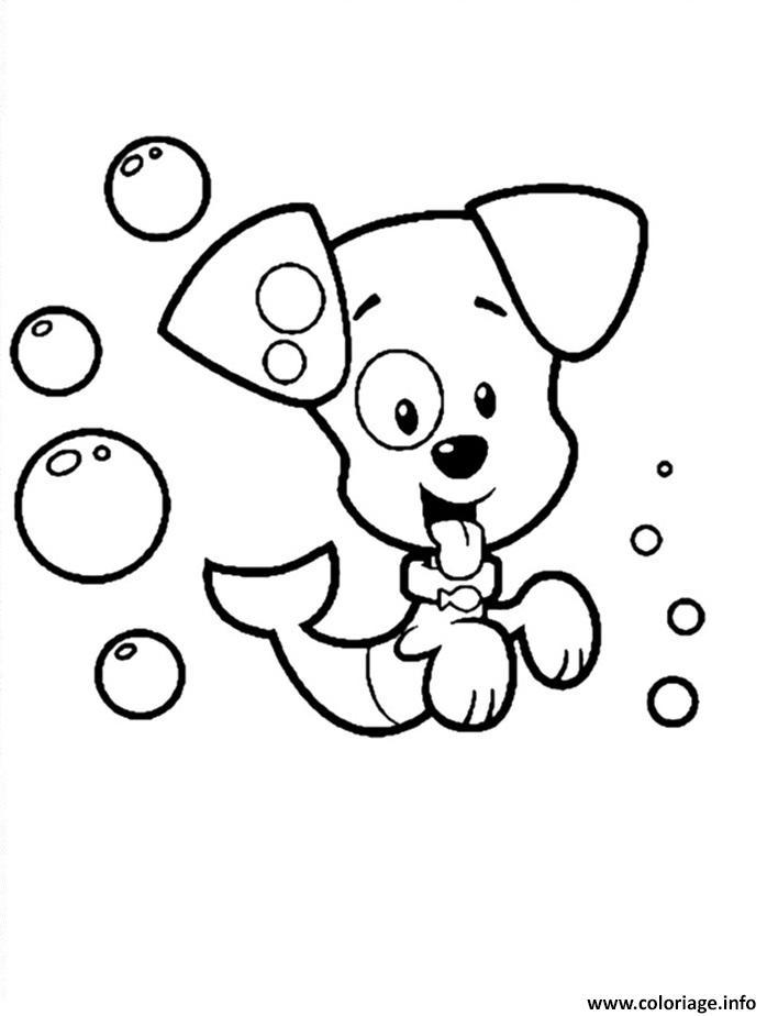 Dessin Bubble Guppies dog Coloriage Gratuit à Imprimer