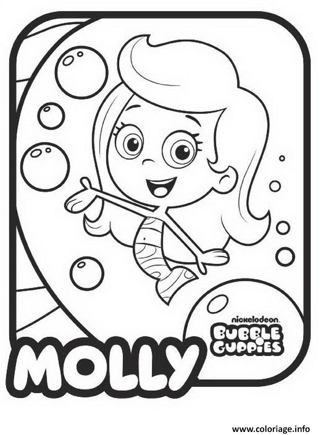 Dessin Bubble Guppies Molly 1 Coloriage Gratuit à Imprimer