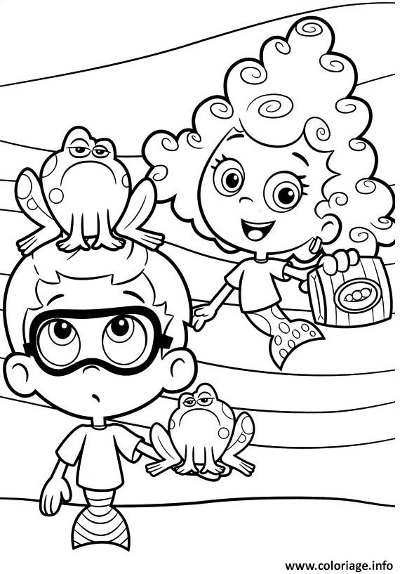 Coloriage Bubble Guppies Printable 6 Dessin à Imprimer