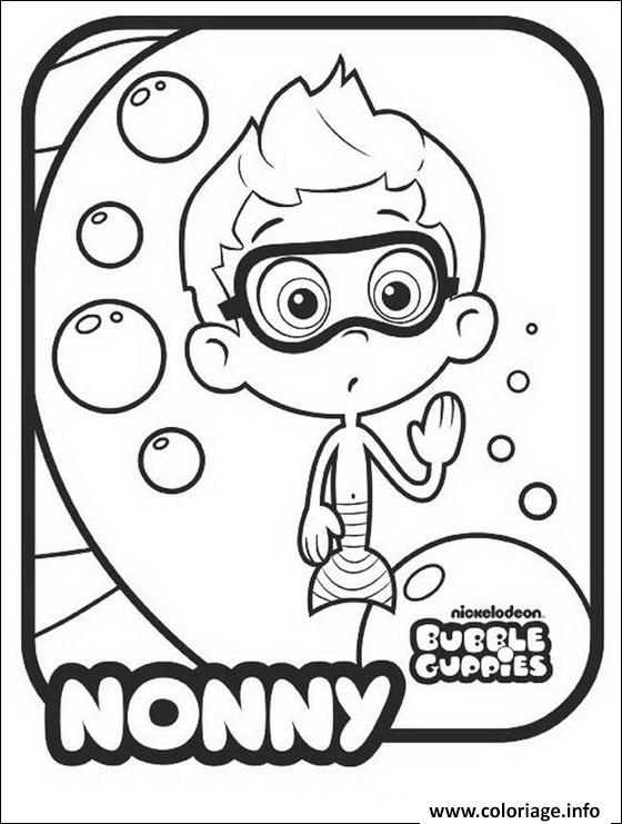 Dessin Nonny Bubble Guppies Coloriage Gratuit à Imprimer