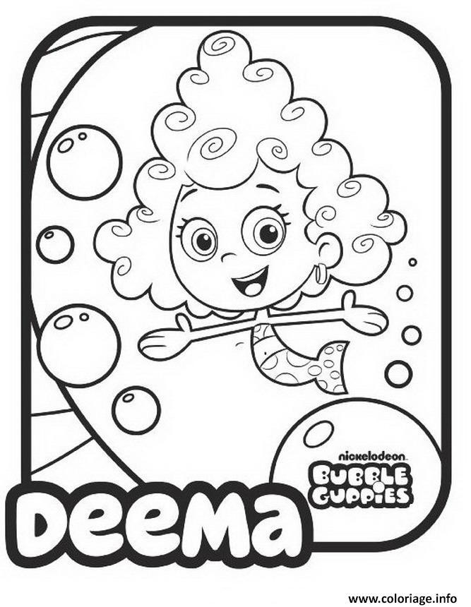 Dessin Bubble Guppies Deema Printable 1 Coloriage Gratuit à Imprimer