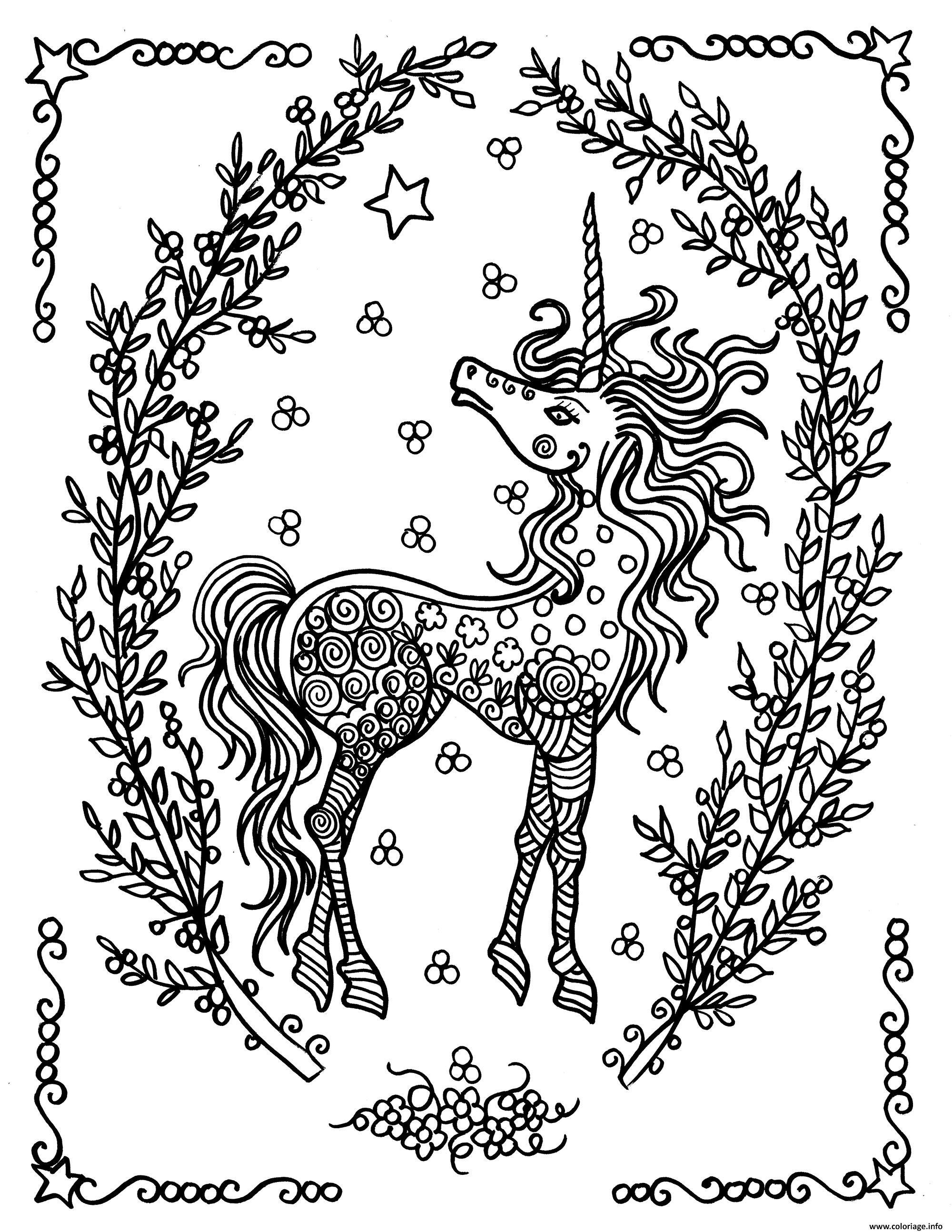 Élégant Dessin A Colorier De Licornes