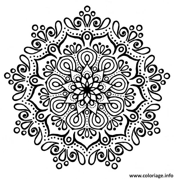 coloriage cute mandala sans couleur noir et blanc. Black Bedroom Furniture Sets. Home Design Ideas