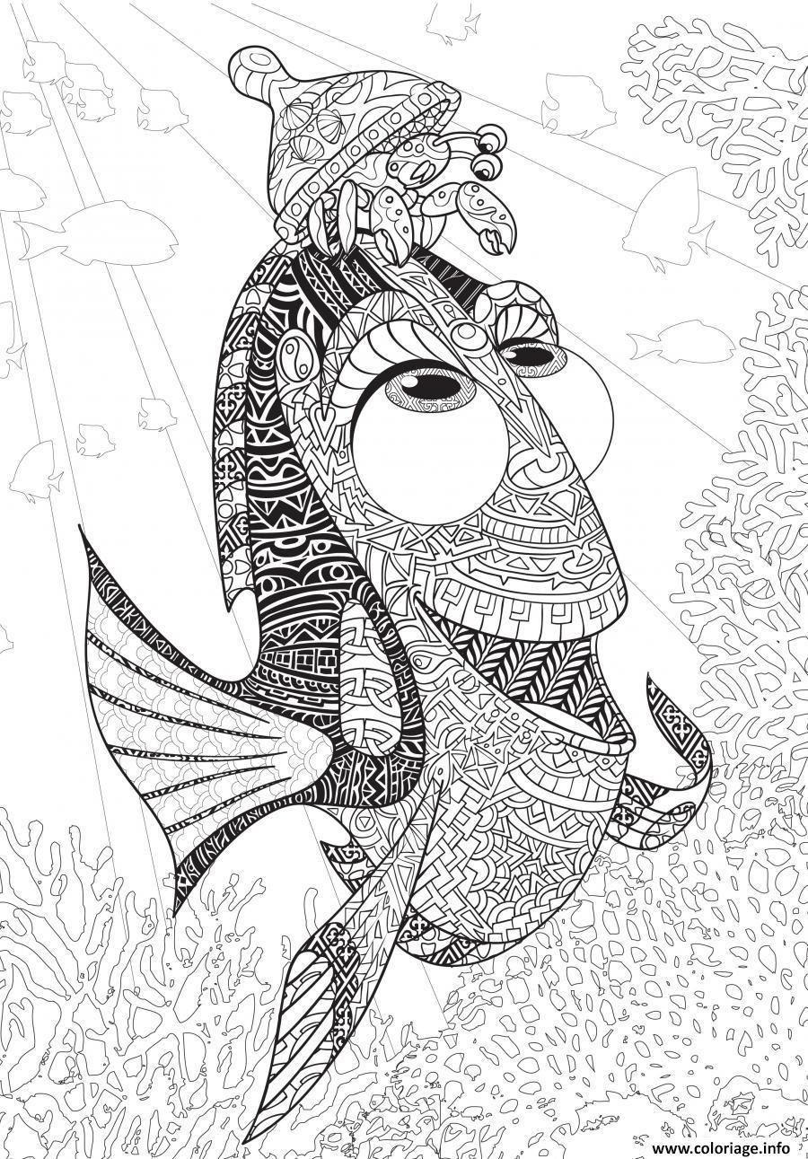 Coloriage Mandala Disney Art Therapie Le Monde De Dory Dessin