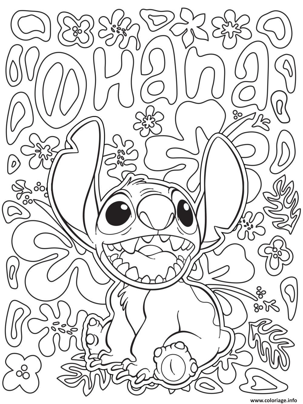 Coloriage Mandala Disney Facile Stitch From Lilo And Stitch Dessin   Imprimer