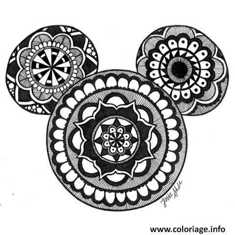 Coloriage Mandala Disney Mickey Mouse Jecolorie Com