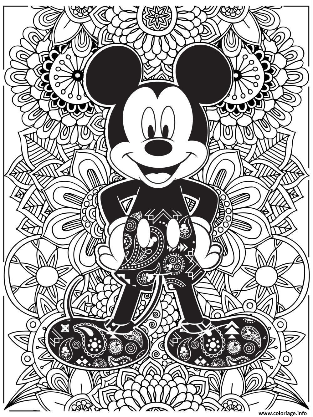 Coloriage Mandala Disney Mickeymouse Hd Jecolorie Com