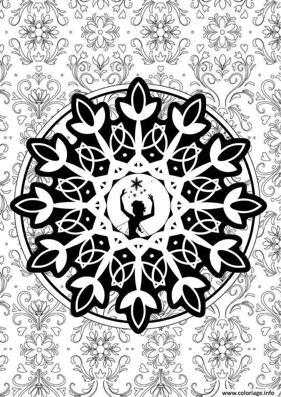 Coloriage mandala disney princesse frozen - Mandala a imprimer gratuit ...