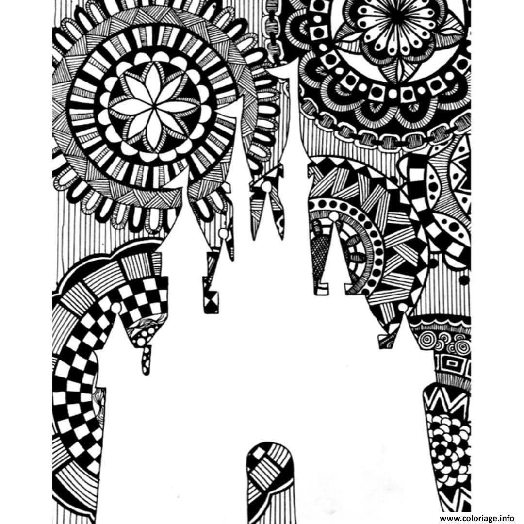 coloriage mandala disney royaume dessin imprimer - Dessin De Mandala