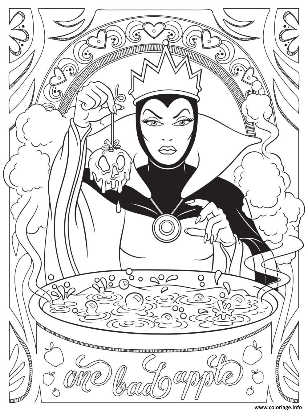 Coloriage Mandala Disney Evil Queen From Snow White And