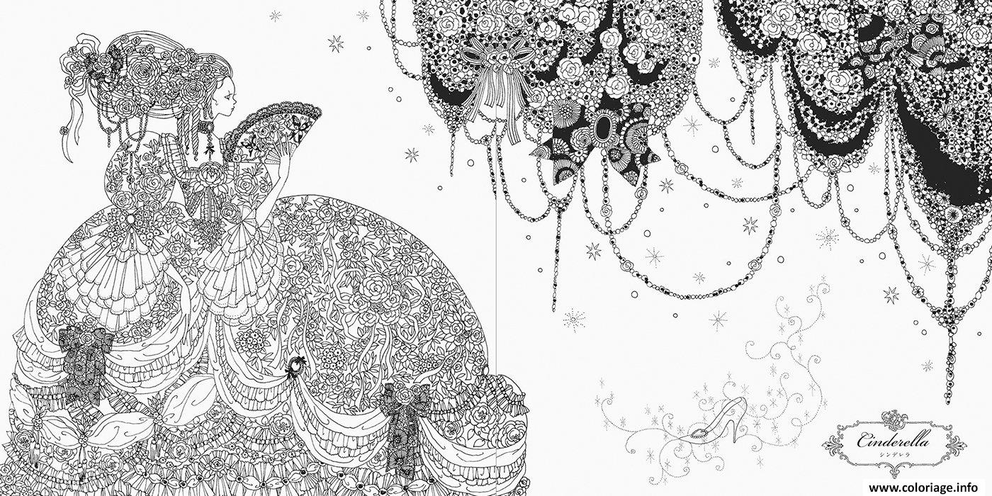 Coloriage Mandala Disney Princesse Cendrillon Dessin
