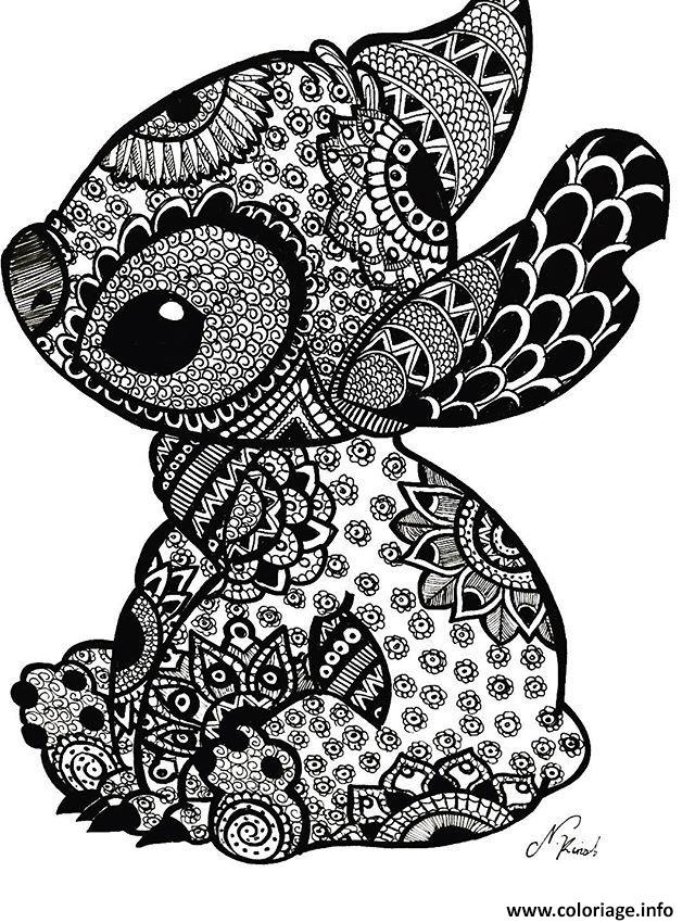 Coloriage Mandala Disney Stitch Tattoo Dessin