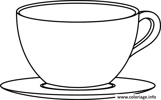 coloriage tasse de cafe et dethe dessin. Black Bedroom Furniture Sets. Home Design Ideas