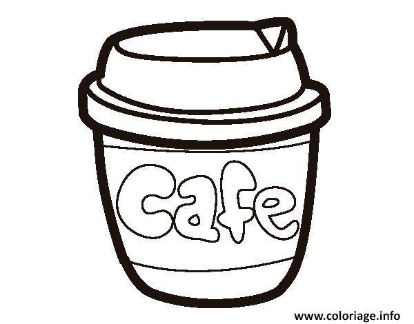 Dessin verre de cafe starbuck Coloriage Gratuit à Imprimer