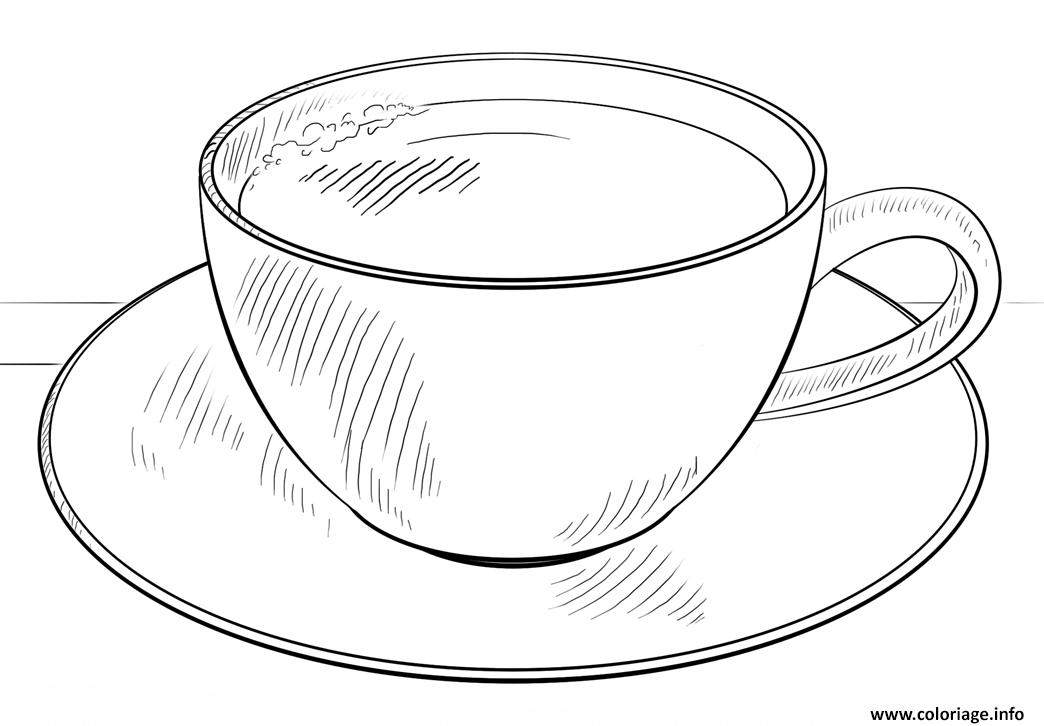 Dessin cafe cappucino cafe au lait latte Coloriage Gratuit à Imprimer