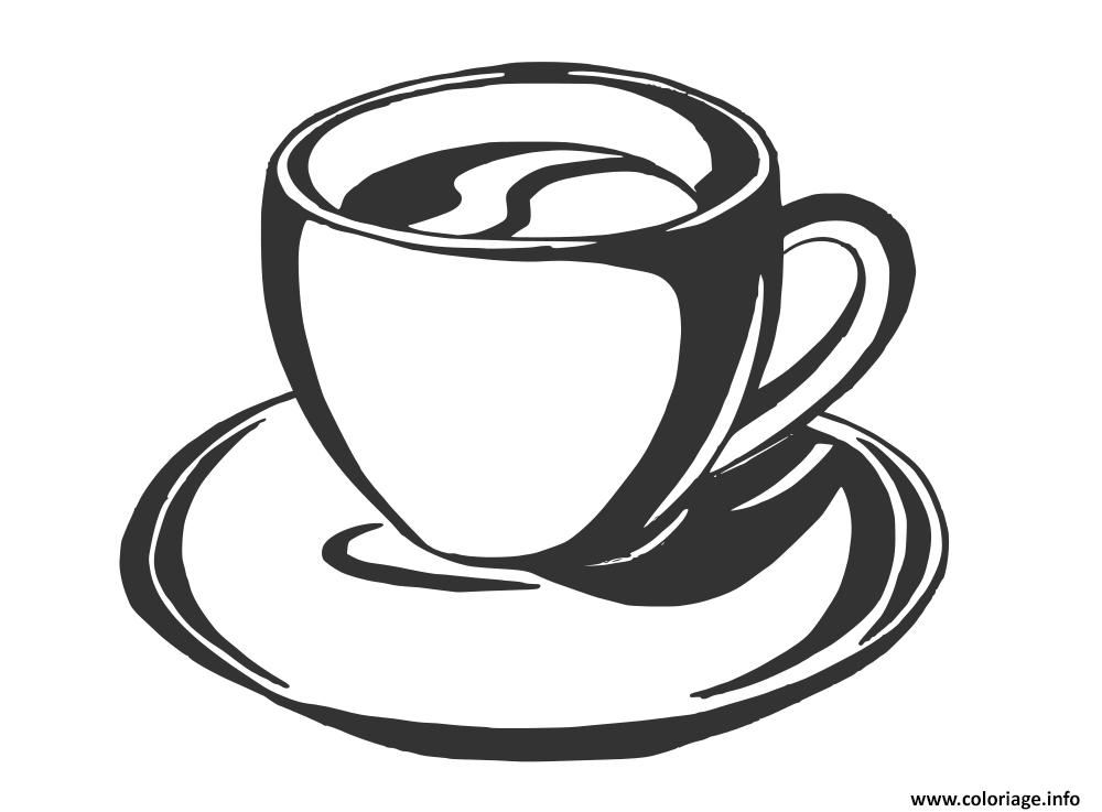 Dessin cafe italien cappucino Coloriage Gratuit à Imprimer