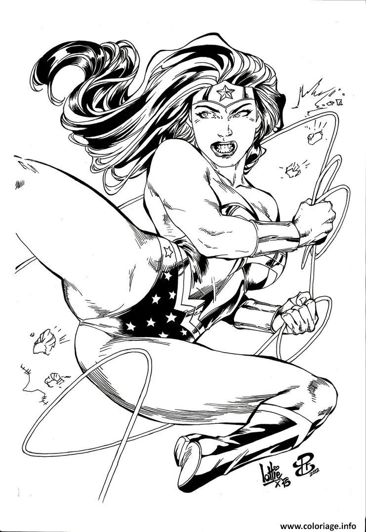 Coloriage Wonder Woman Inked By Lottiefrancis Adulte Dessin à Imprimer