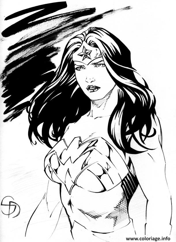 coloriage wonder woman portrait tumblr dessin. Black Bedroom Furniture Sets. Home Design Ideas