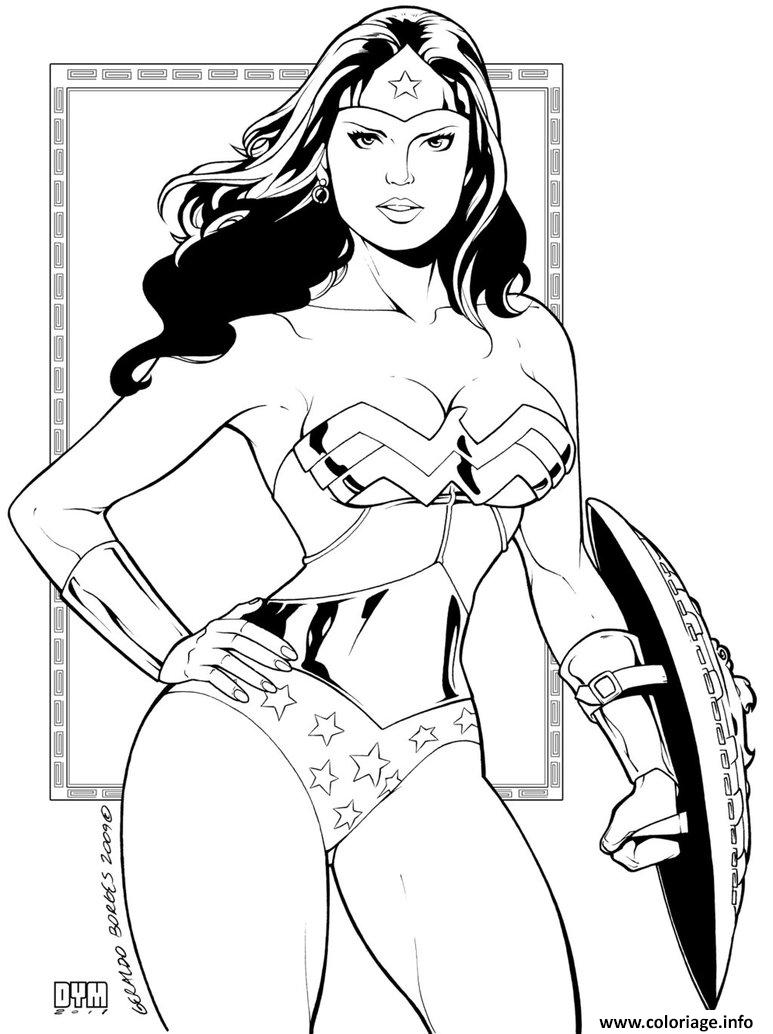 Dessin wonder woman ink par dymartgd pour adulte dc comics Coloriage Gratuit à Imprimer