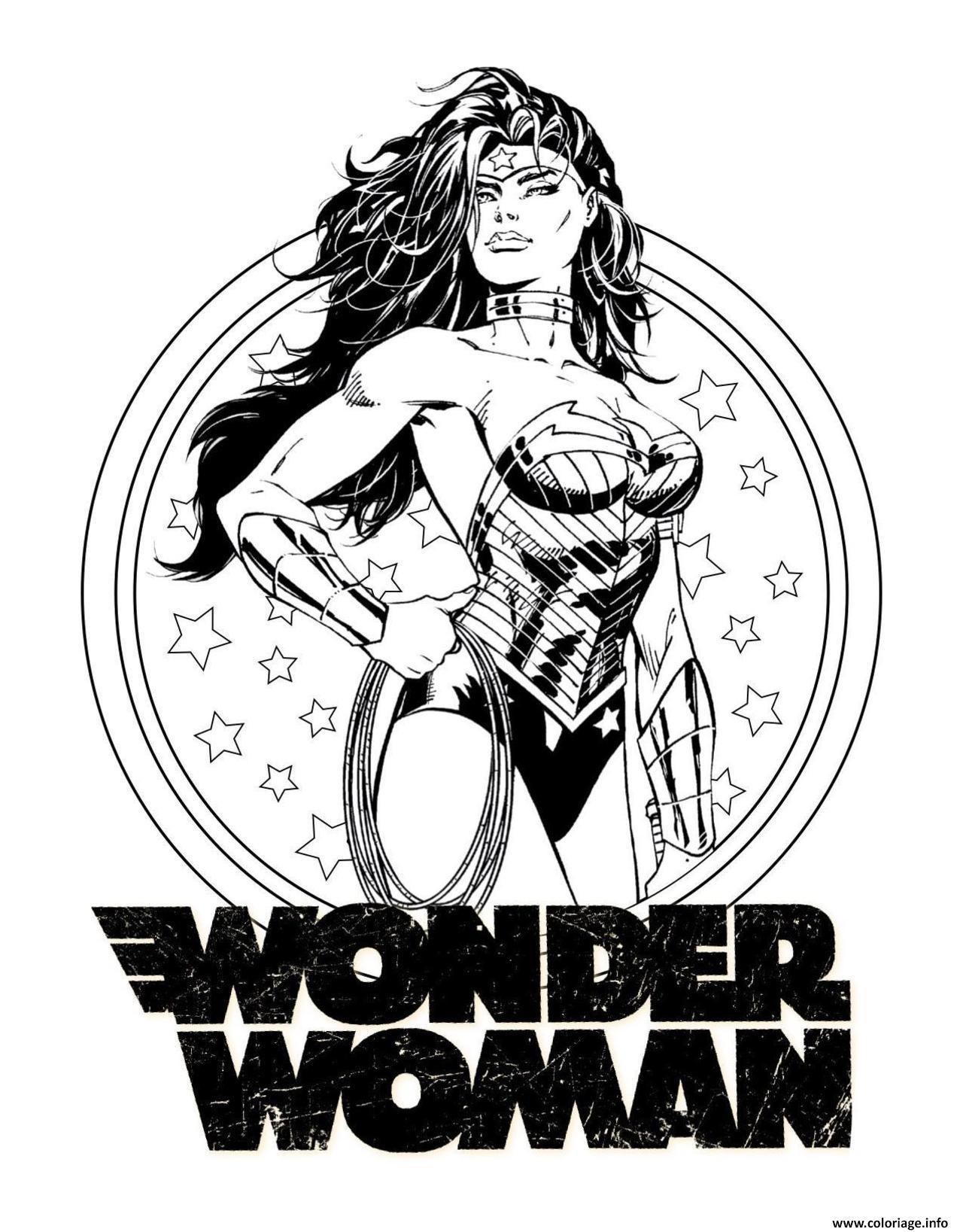 Dessin wonder woman pour adulte dc comics dc comics Coloriage Gratuit à Imprimer
