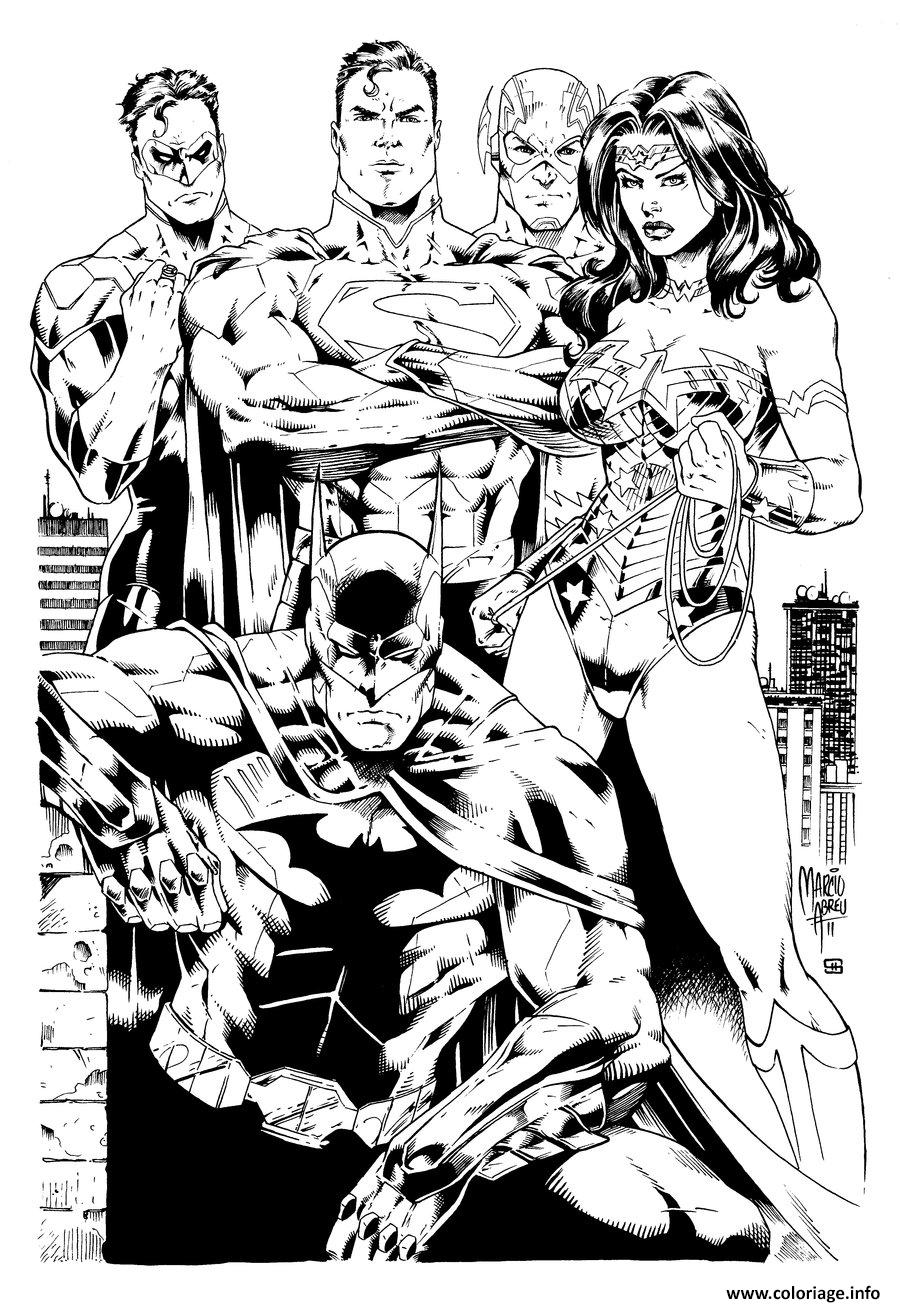 Coloriage Wonder Woman Justice League Inks Par Shoveke Dc Comics Dessin à Imprimer