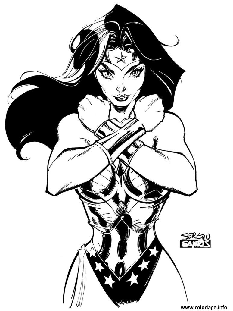 Coloriage wonder woman par sergioxantos dc comics dessin - Coloriage dc comics ...