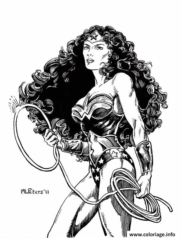 Dessin Wonder Woman Original art dc comics Coloriage Gratuit à Imprimer