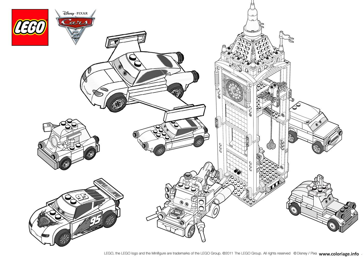 Coloriage lego cars 3 movie 2017 dessin - Cars 2 coloriage ...