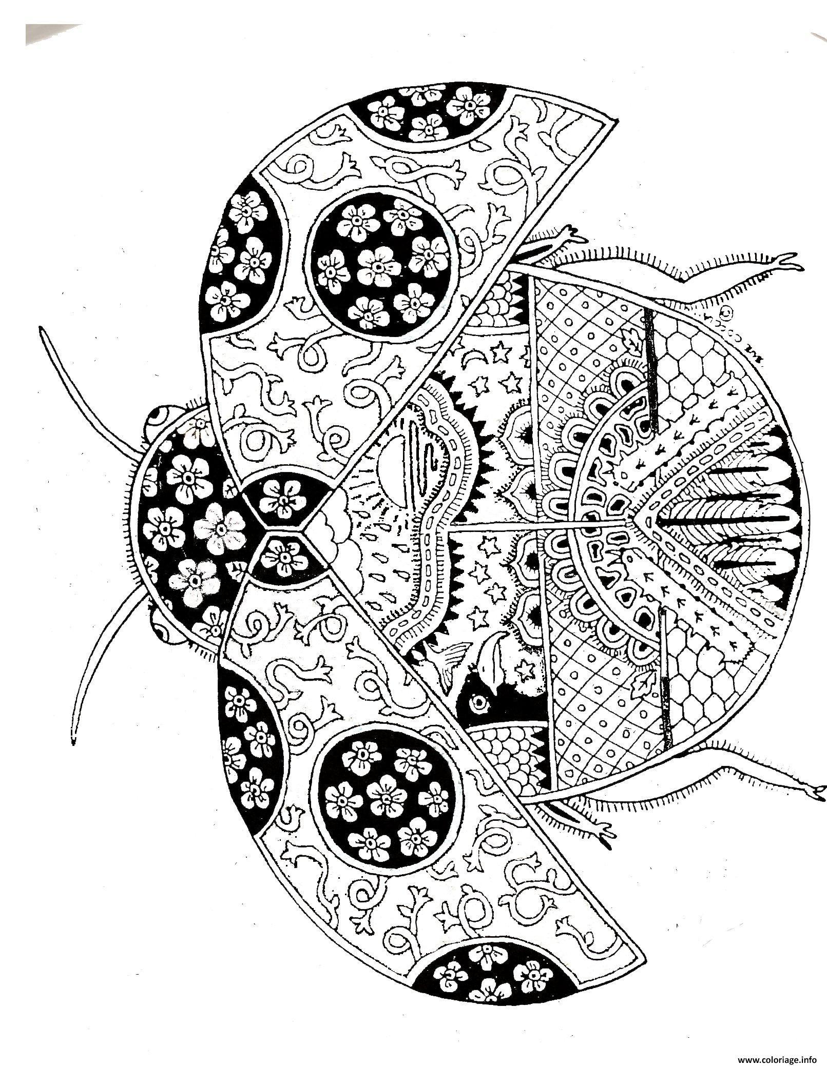 Coloriage ladybug mandala dessin - Mandalas cycle 3 ...