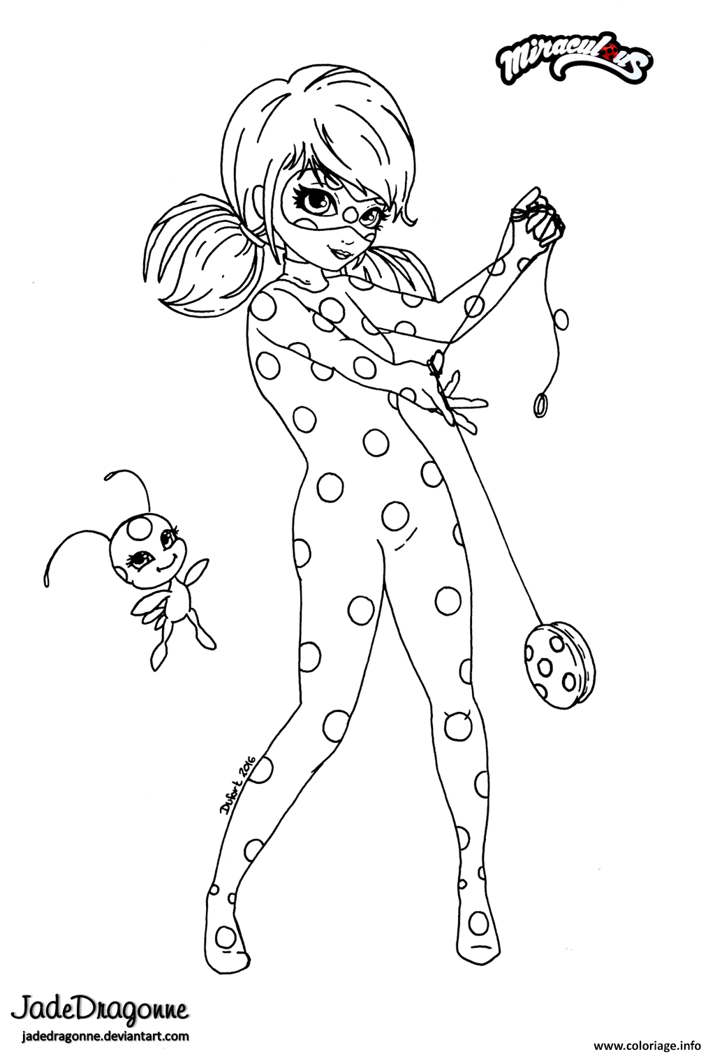 Coloriage miraculous ladybug anime par jade dessin - Dessin imprimer ...