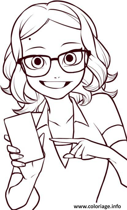 Coloriage Miraculous Ladybug Coloring Pages Alya Cesaire