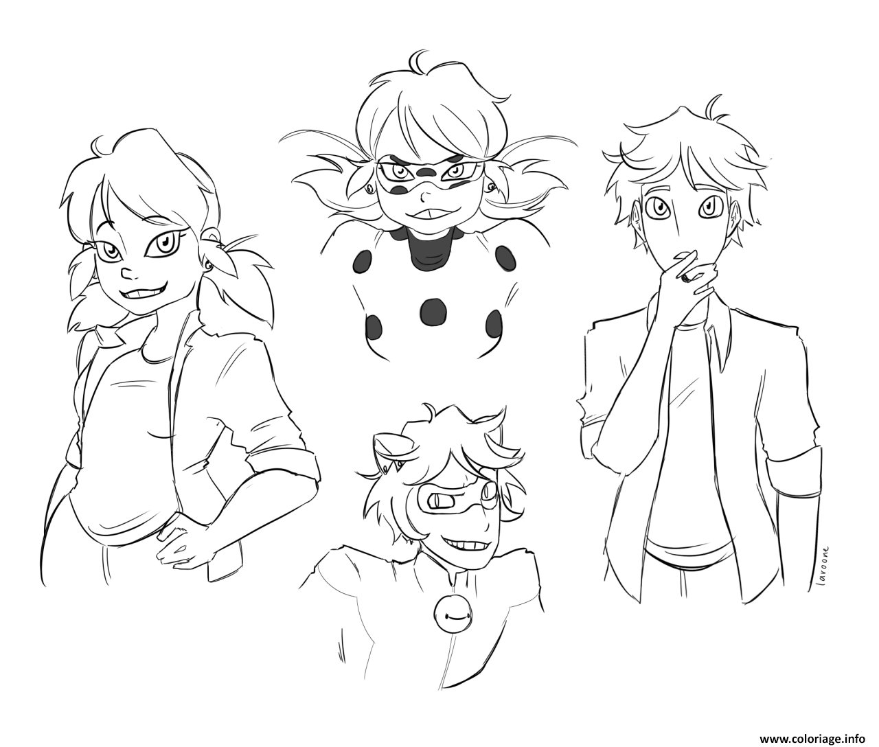 Coloriage personnages demiraculous ladybug chat noir for Coloring pages ladybug