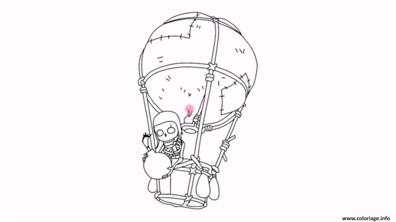 Dessin clash royale ballon bombe Coloriage Gratuit à Imprimer