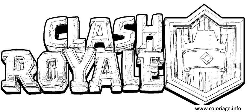 Dessin clash royale logo officiel Coloriage Gratuit à Imprimer