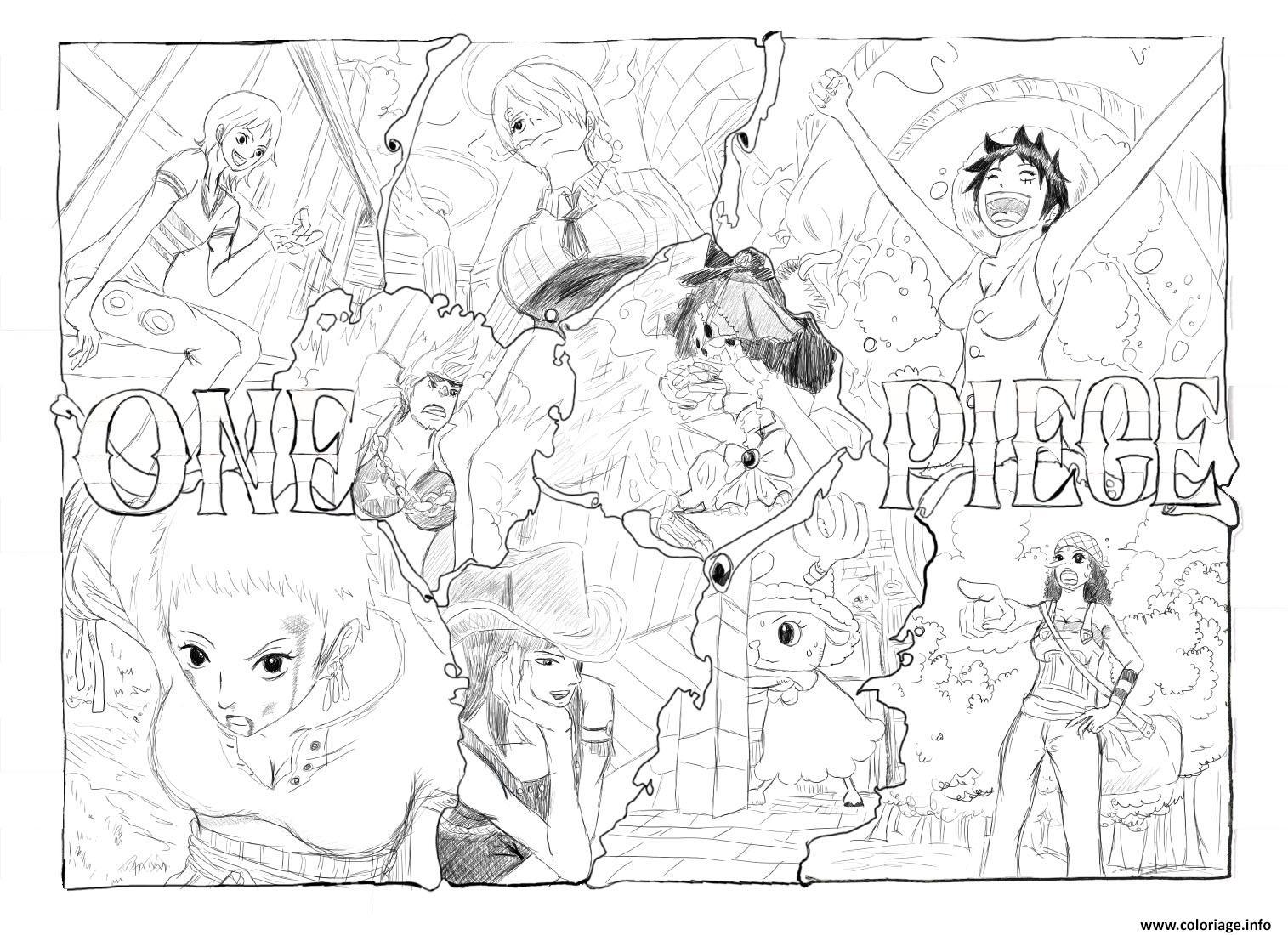 dessin manga one piece a imprimer