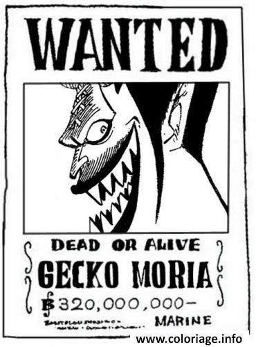 Coloriage one piece wanted gecko moria dead or alive dessin - Dessin a colorier one piece ...