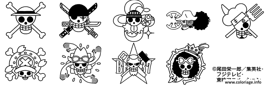 Coloriage Logos One Piece Manga dessin