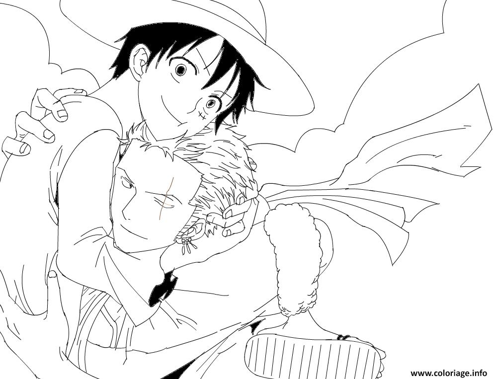 Coloriage Luffy X Zoro Lineart By Lorenor Zorro Robin Dessin